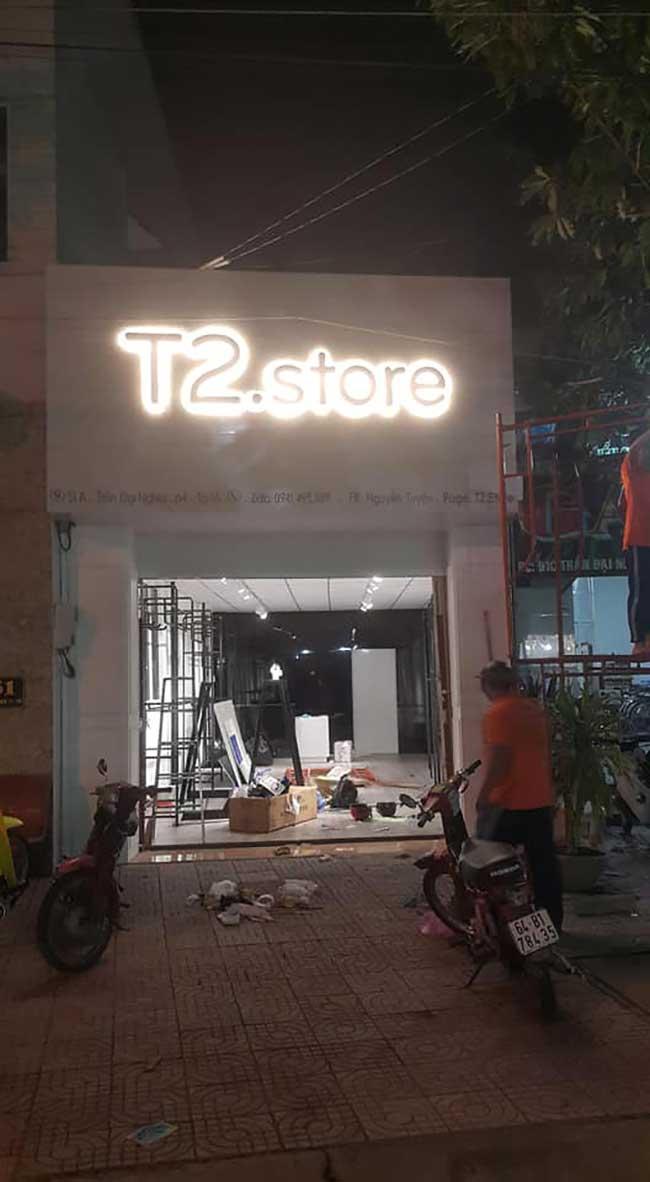 thi cong lam bang hieu quang cao 92 1 - Làm bảng hiệu quảng cáo giá rẻ tại quận tân phú