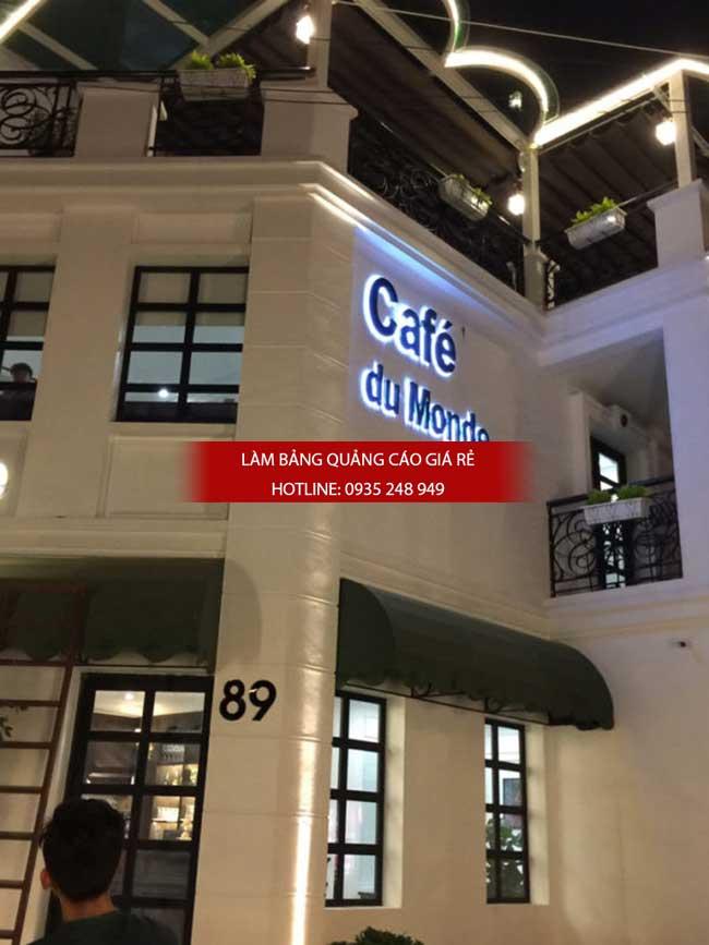 mau bang hieu quan cafe dep 9 - Làm bảng hiệu quảng cáo đường Nguyễn Sơn quận Tân Phú