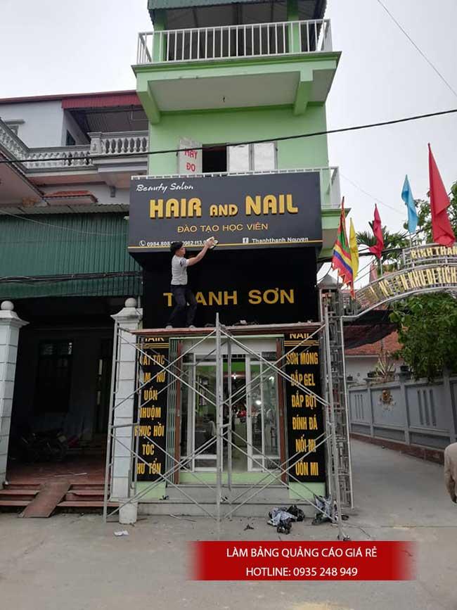thi cong lam bang hieu quang cao 140 - Làm bảng hiệu quảng cáo giá rẻ tại quận 5