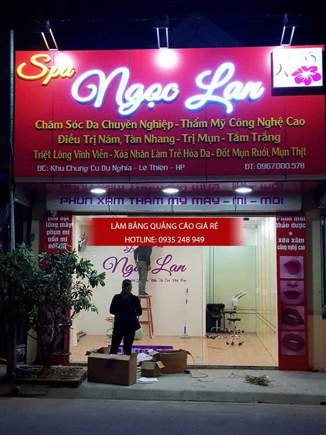 thi cong lam bang hieu quang cao 142 1 - Làm bảng hiệu quảng cáo giá rẻ tại quận 8