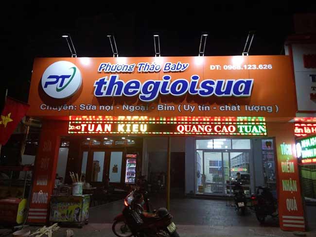 thi cong lam bang hieu quang cao 190 - Làm bảng quảng cáo tại đường An Dương Vương, quận Bình Tân