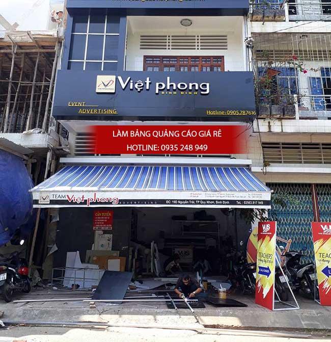 thi cong lam bang hieu quang cao 195 1 - Làm bảng hiệu bạt hiflex đường Phan Anh, quận Bình Tân