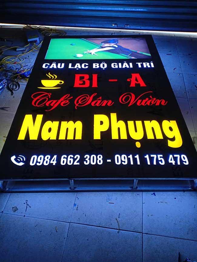 thi cong lam bang hieu quang cao 219 - Làm bảng quảng cáo tại đường Lê Văn Quới quận Bình Tân
