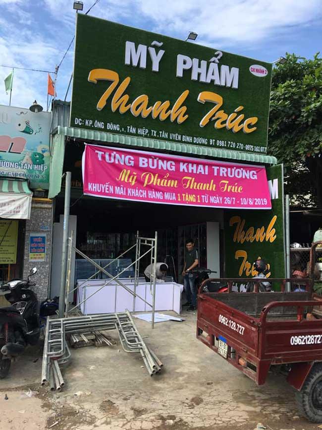 thi cong lam bang hieu quang cao 275 - Làm bảng hiệu quảng cáo giá rẻ tại quận tân phú