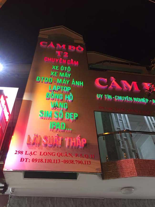 thi cong lam bang hieu quang cao 277 - Làm bảng hiệu quảng cáo đường Nguyễn Sơn quận Tân Phú
