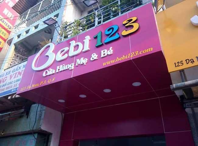 thi cong lam bang hieu quang cao 380 - Làm bảng hiệu bạt hiflex đường Phan Anh, quận Bình Tân