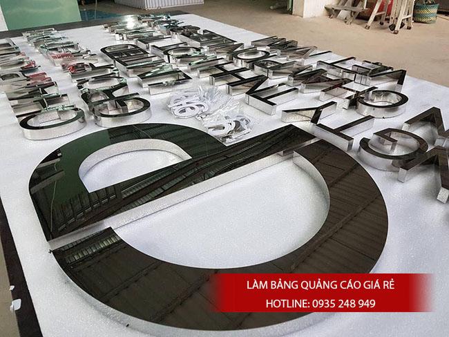 chu noi inox dep gia re 1 - #Chữ nổi inox giá rẻ quận Bình Tân