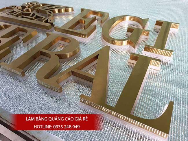 chu noi inox vang 29 - Gia công làm chữ nổi inox giá rẻ quận Tân Phú