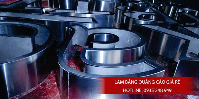 chu noi inox vang 9 - Gia công làm chữ nổi inox giá rẻ quận Tân Phú