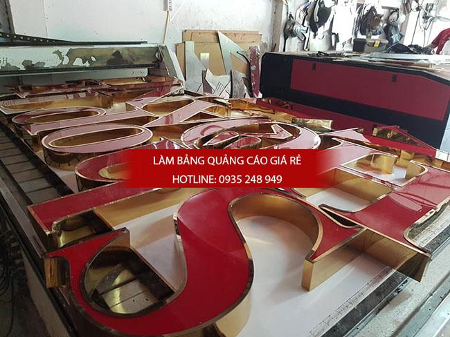 lam chu inox gia re 4 - Thi công làm bảng hiệu quảng cáo quận Tân Phú