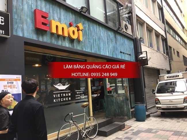 mau bang hieu nha hang 10 - Thi công làm bảng hiệu quảng cáo quận Tân Phú