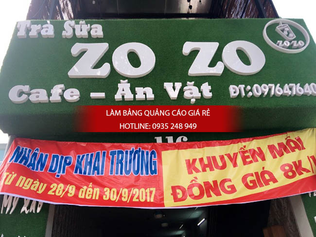 mau bang hieu quan tra sua 6 - Làm bảng hiệu quảng cáo quận Bình Tân TPHCM