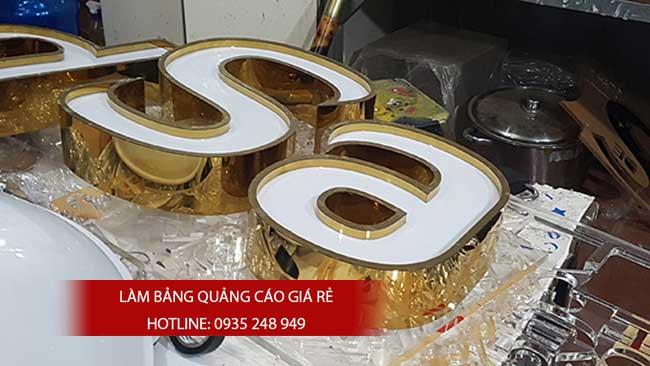 thi cong chu inox 4 - #Chữ nổi inox giá rẻ quận Bình Tân