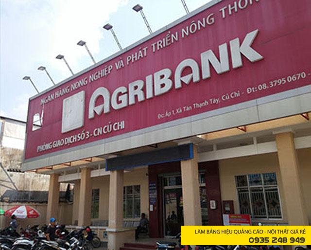 Thi công mặt dựng alu ngân hàng AGRIBANK