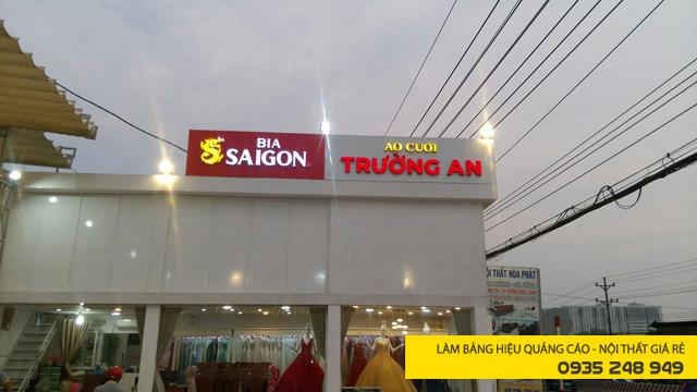 Làm bảng hiệu quảng cáo chuỗi bia Sài Gòn với chữ nổi mica đèn led