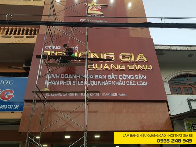 Làm bảng hiệu mặt dựng aluminium Trương Gia Quảng Bình