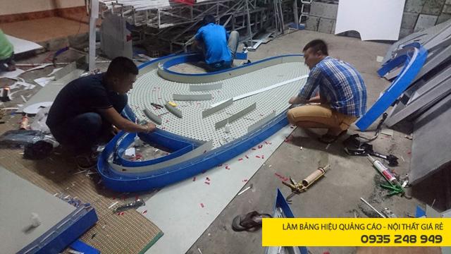 Thi công mặt dựng aluminium tòa nhà VNPT Đồng Hới