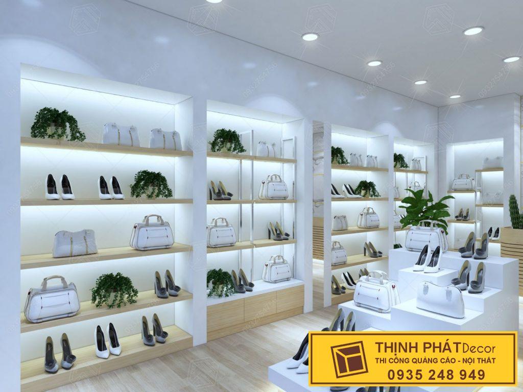 tủ kệ trưng bày của hàng túi xách cao cấp