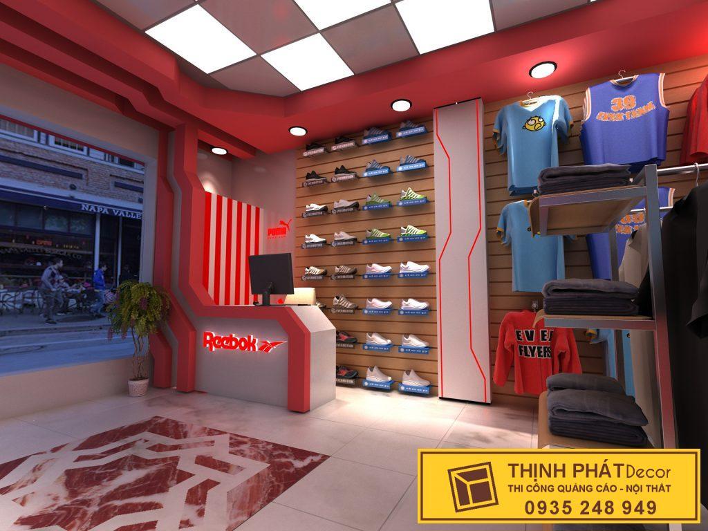 thiết kế thi công shop giày (1)