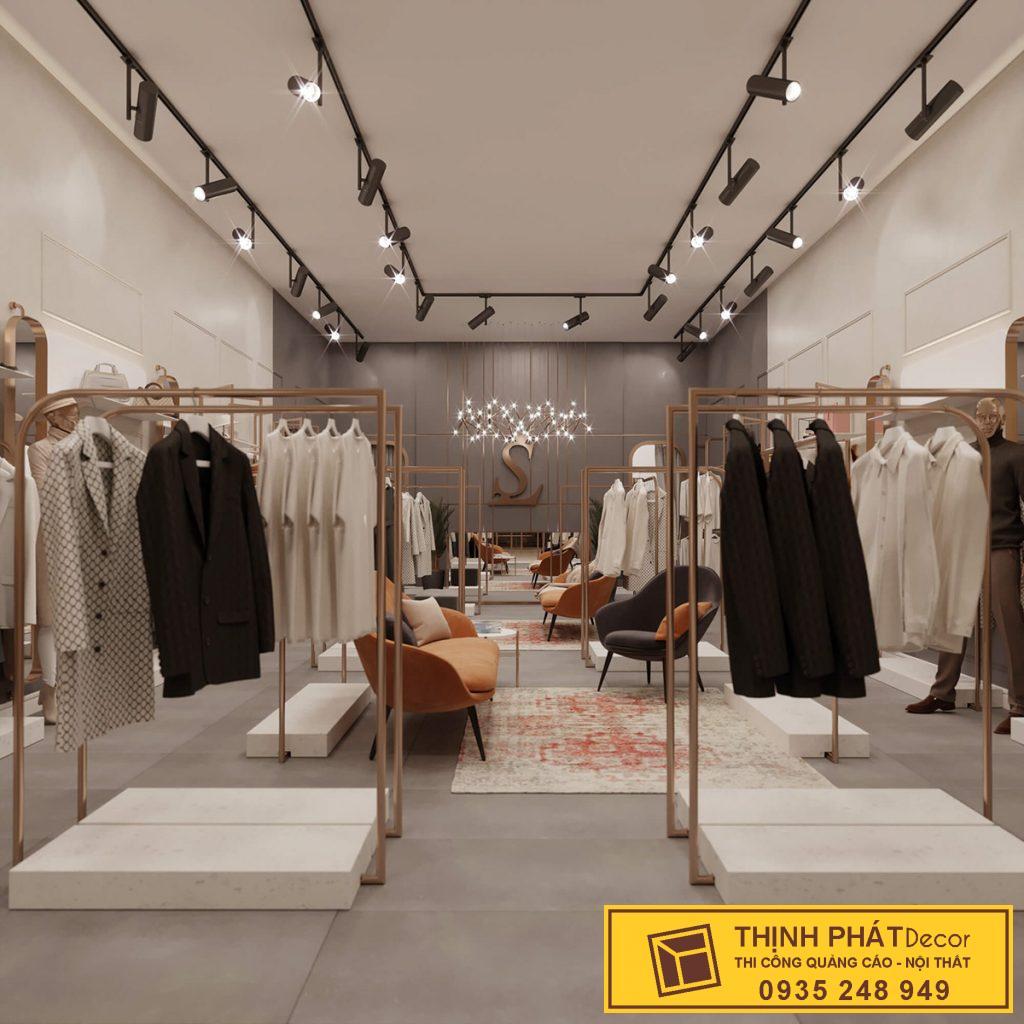 thiết kế thi công shop quần áo thời trang