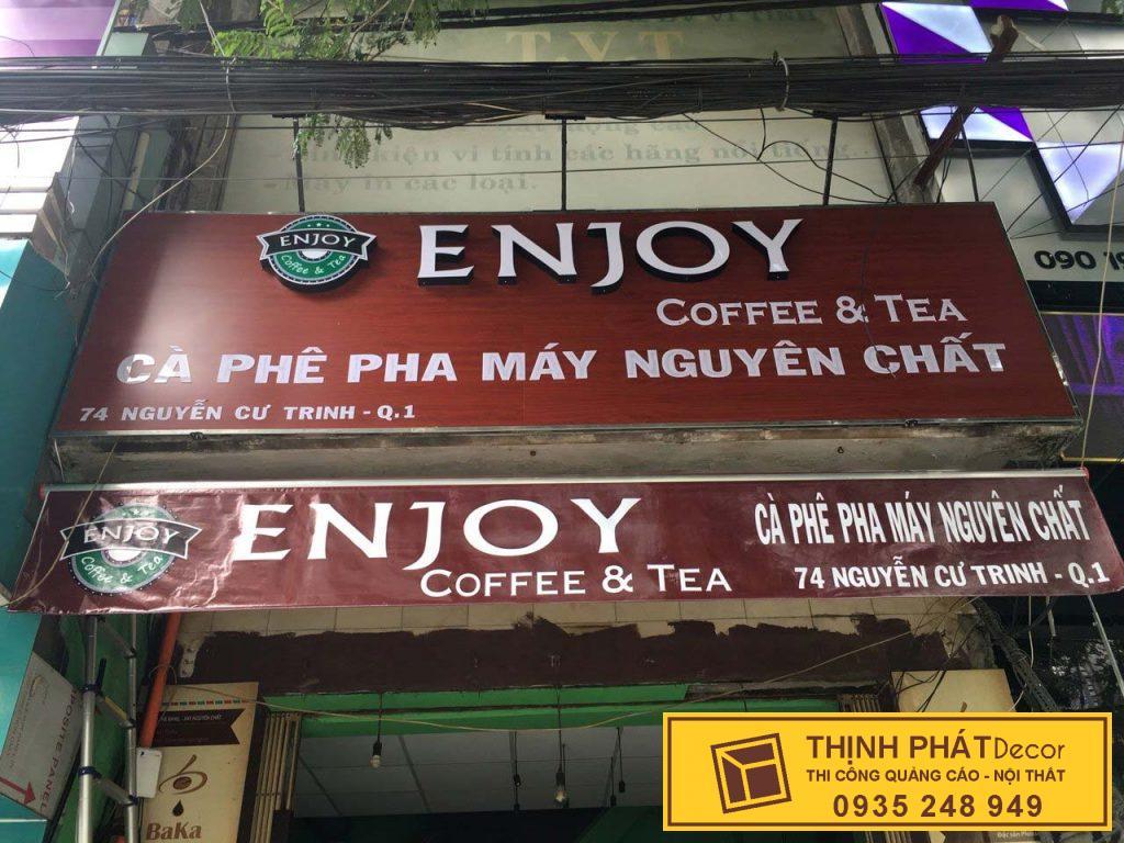 Bảng hiệu quán cafe giá rẻ