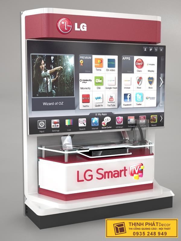 bục trưng bày sản phẩm LG