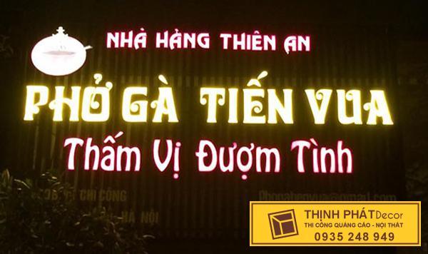 Bảng hiệu quảng cáo nhà hàng