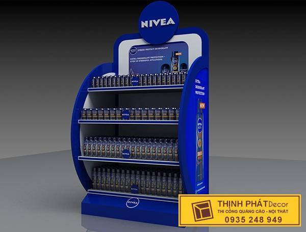 thi công booth bán hàng NIVEA
